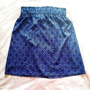 Dresses & Skirts - Blue Patterned Skirt